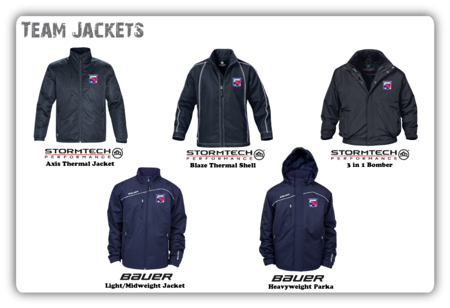 Jr Ranger Team Jackets. Stormtech,Bauer